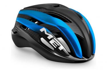 Casco Met Trenta 3K Carbon Noir / Bleu