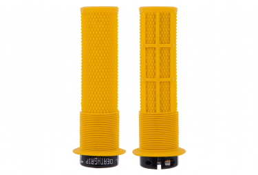 DMR DeathGrip Grips with Flanges Yellow