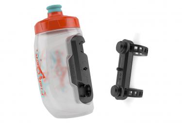 Bidon Fidlock Twist Bottle 450 Kids 450 ml + Fixation Uni Base Orange Bleu