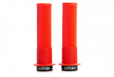 DMR DeathGrip Grips with Flanges Red