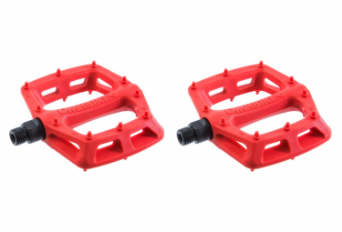 Paire de Pédales Plates DMR V6 Rouge