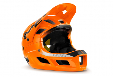 Met Parachute MCR Mips Helm mit abnehmbarem Kinnriemen Glossy Orange Black 2021