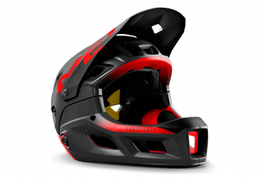 Met Parachute MCR Mips Helmet with Removable Chinstrap Matte Glossy Black Red 2021