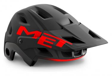 Casque Intégral Met Parachute MCR Mips avec mentonnière amovible Noir Rouge Mat Brillant 2021