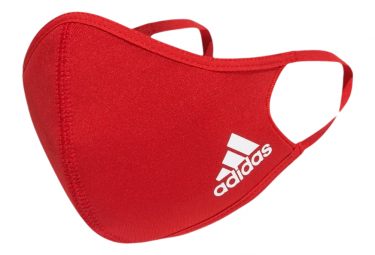 Schutzbrille adidas Face Covers Packung mit 3 roten M / L.