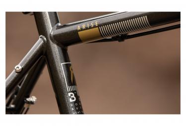 Bombtrack Arise Gravel Bike Single Speed 700 mm Kaffee Schwarz 2021