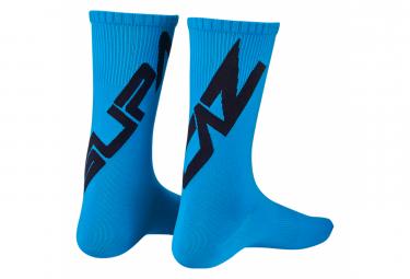 Pair of Supacaz SupaSox Straight Up SL Blue Socks