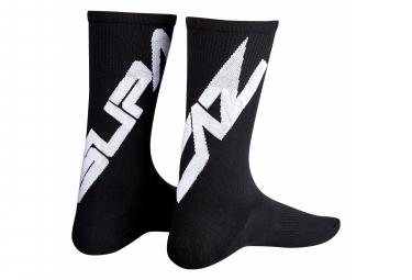 Pair of Supacaz SupaSox Straight Up SL Black Socks