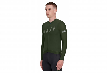 Maillot Manches Longues MAAP Echo Pro Base Vert Military