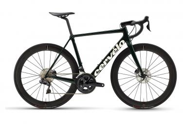 Bicicleta de carretera Cervélo R5 Disc Shimano Ultegra Di2 8070 11V Verde / Blanco / Dorado 2021