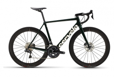 Vélo de Route Cervélo R5 Disc Shimano Ultegra Di2 8070 11V Vert/Blanc/Or 2021