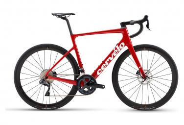 Bicicleta de carretera cervelo caledonia 5 disc shimano ultegra di2 11s rojo   blanco 2021 56 cm   175 185 cm