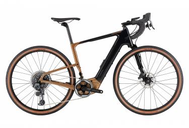 Gravel Bike Électrique Cannondale Topstone Neo Lefty LE Sram Force eTap AXS 12V 2021 Noir / Or