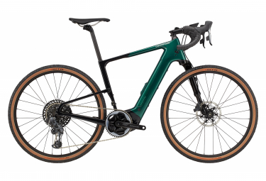 Gravel Bike Elektro Cannondale Topstone Neo Carbon Lefty 1 650b Sram Force AXS 12V Smaragd