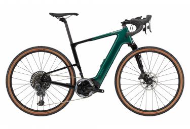 Gravel Bike Électrique Cannondale Topstone Neo Lefty 1 Sram Force eTap AXS 12V 2021 Noir / Vert