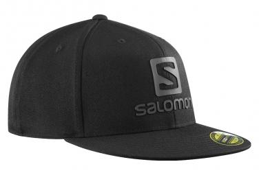 Salomon Logo Cap FlexFit Black Mens Cap