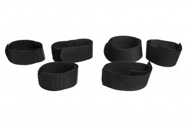 Image of Attaches velcro miss grape velcro internode 6 pieces pour sacoche de cadre miss grape internode noir