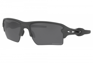 Occhiali Oakley Flak 2.0 XL in acciaio | Prizm Black Irridium Polarized | OO9188-F8
