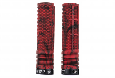 DMR DeathGrip Flangeless Grips Marble Red