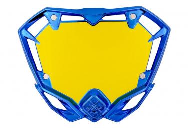 Piastra cromata blu Pride Racing MINI
