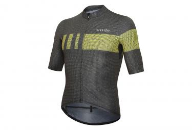 Camiseta Zero Rh   Super Light Negro   Amarillo Fluo S