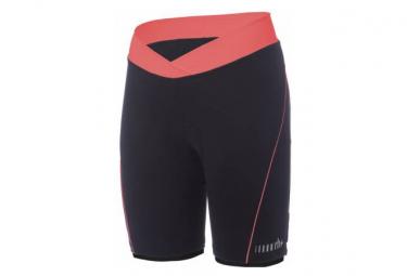 Shorts Zero Rh   Pista Negro   Naranja Mujer M