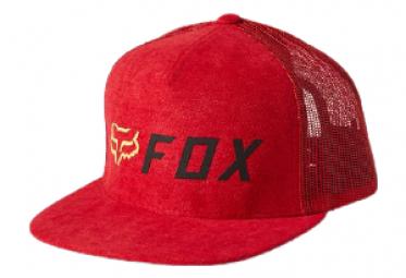 Gorra Fox Apex Rojo   Negro