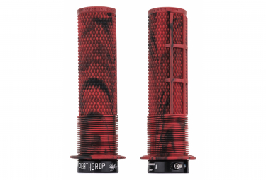 DMR DeathGrip Grips with Flanges Marble Red