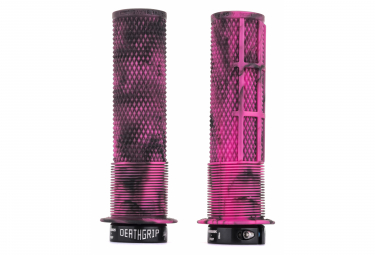 DMR DeathGrip Grips with Flanges Marble Pink