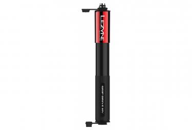 Pompa a mano Lezyne Grip Drive HV S (max 90 psi / 6,2 bar) nera / rossa