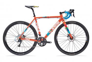 Bicicleta Gravel Cinelli Zydeco Lala Shimano Sora 9S 700 mm Jugo de Naranja Azul 2021