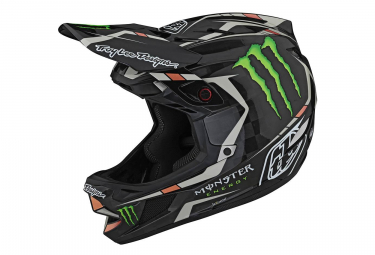 Troy Lee Designs D4 Mips Monster Fairclough Integralhelm Schwarz