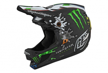 Troy Lee Designs D4 Mips Carbon Zink Integralhelm Schwarz