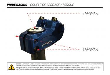Fourche Pride Racing Slik 20' 10MM Noir Mat