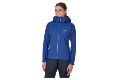 Chaqueta impermeable azul rab downpour plus para mujer xs