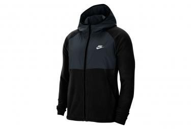 Sweat à capuche Nike Sportswear Noir / Bleu Marine