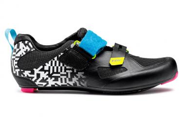 Chaussures Route / Triathlon Northwave Tribute 2 Carbon Blanc Noir Multi