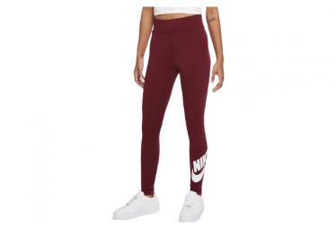 Collant Nike Sportswear Leg-A-See Rouge / Blanc Femme