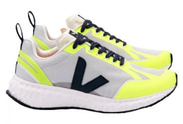 Zapatillas Veja Condor Mesh Running Amarillo Neon   Gris 44 1 2