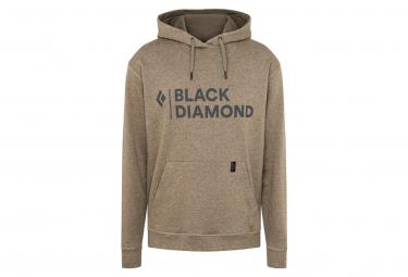 Sweat à capuche Black Diamond Stacked Logo Marron Homme