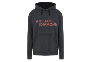 Sweat à capuche Black Diamond Stacked Logo Noir Homme