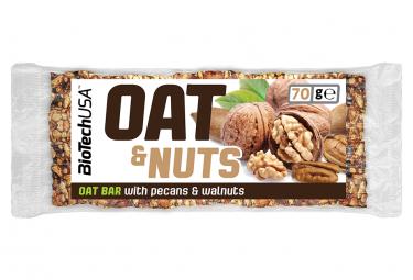 Image of Barre energetique biotechusa oat and nuts bar 70g noix de pecan