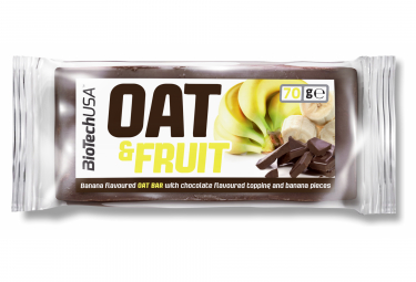 Image of Barre energetique biotechusa oat and nuts bar 70g chocolat banane
