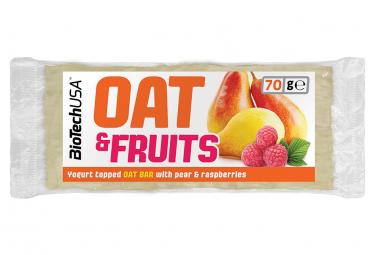 Barre énergétique BioTechUSA Oat and fruits bar 70g Yaourt Framboise