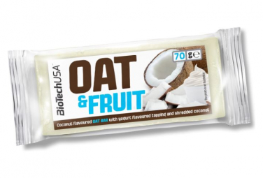 Barre énergétique BioTechUSA Oat and nuts bar 70g Yaourt Coco