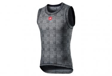 Camiseta Interior Sin Mangas Castelli Pro Mesh M Negro   Blanco L