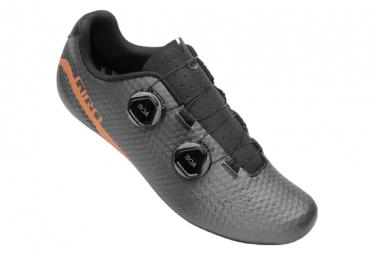 Zapatillas Giro Regime Road Carbon Gris / Cobre Naranja