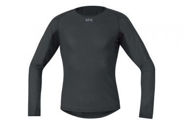 Camiseta interior de invierno Gore Windstopper negro