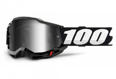 100% ACCURI 2 mask | Black | Mirror Argents glasses