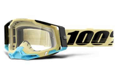 Máscara 100% RACECRAFT 2 clear brown